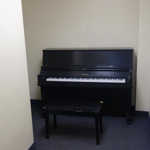 Norton House Practice Room with common piano