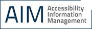 Accessibility Information Management System logo